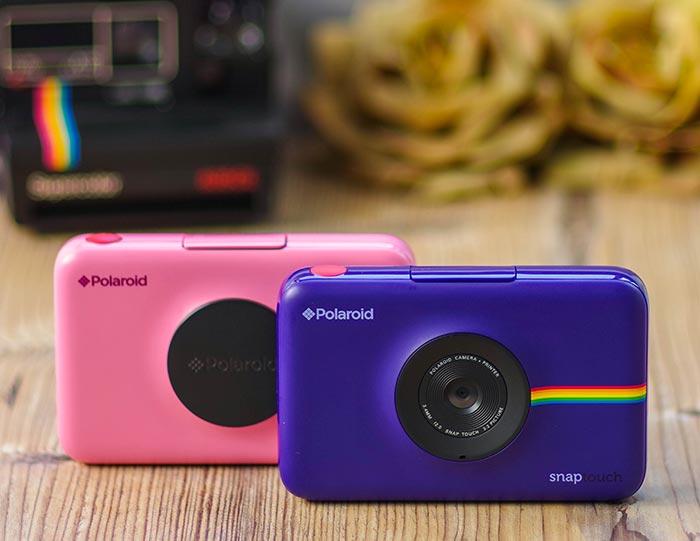 Polaroid Snap Touch rosa y azul
